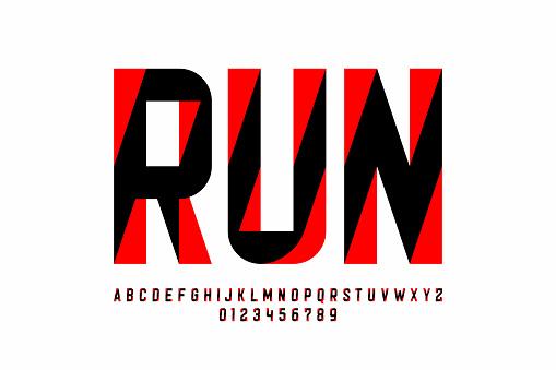 Sport style modern font