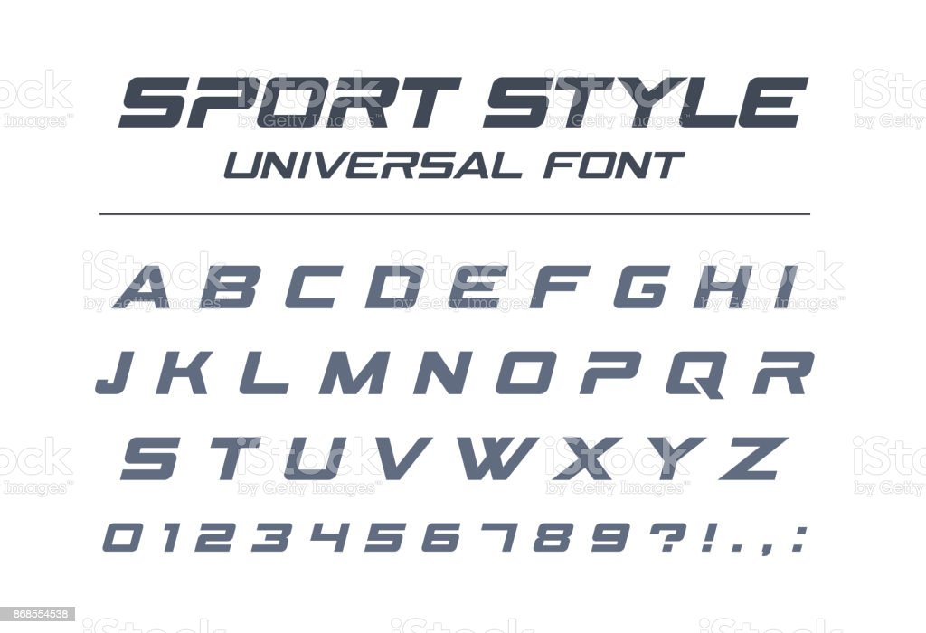 Sport style universal font. Fast speed, futuristic, technology, future alphabet. royalty-free sport style universal font fast speed futuristic technology future alphabet stock illustration - download image now