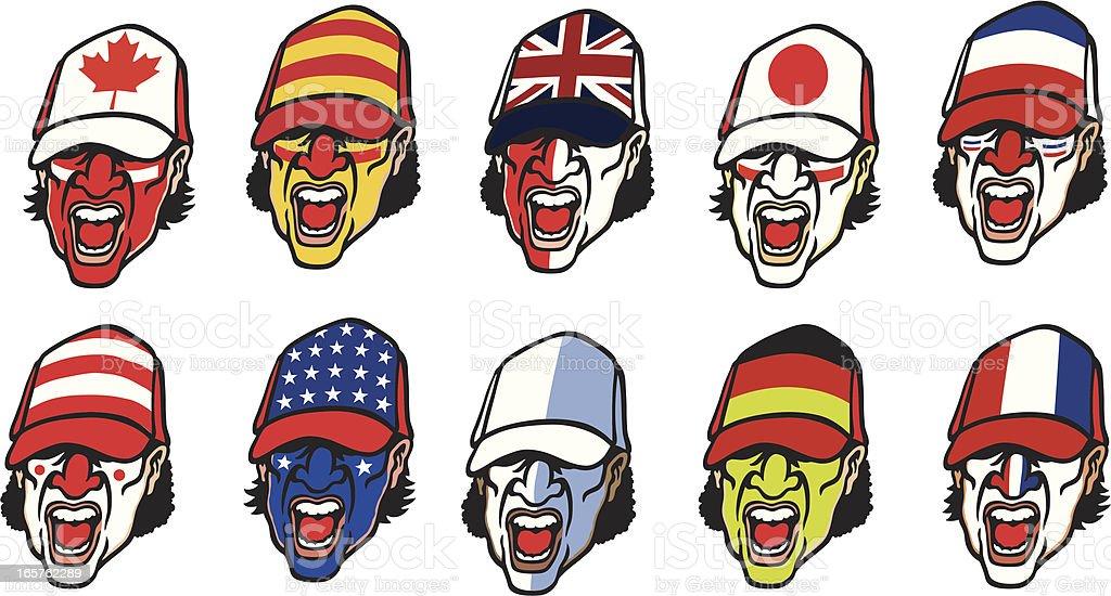 Sport Supporters vector art illustration