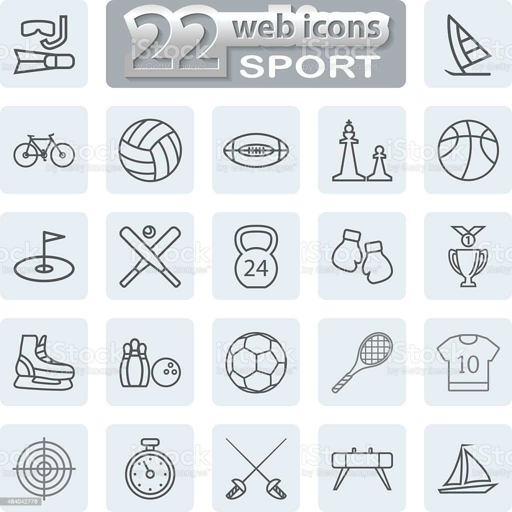 Sport Symbols Icons vector art illustration