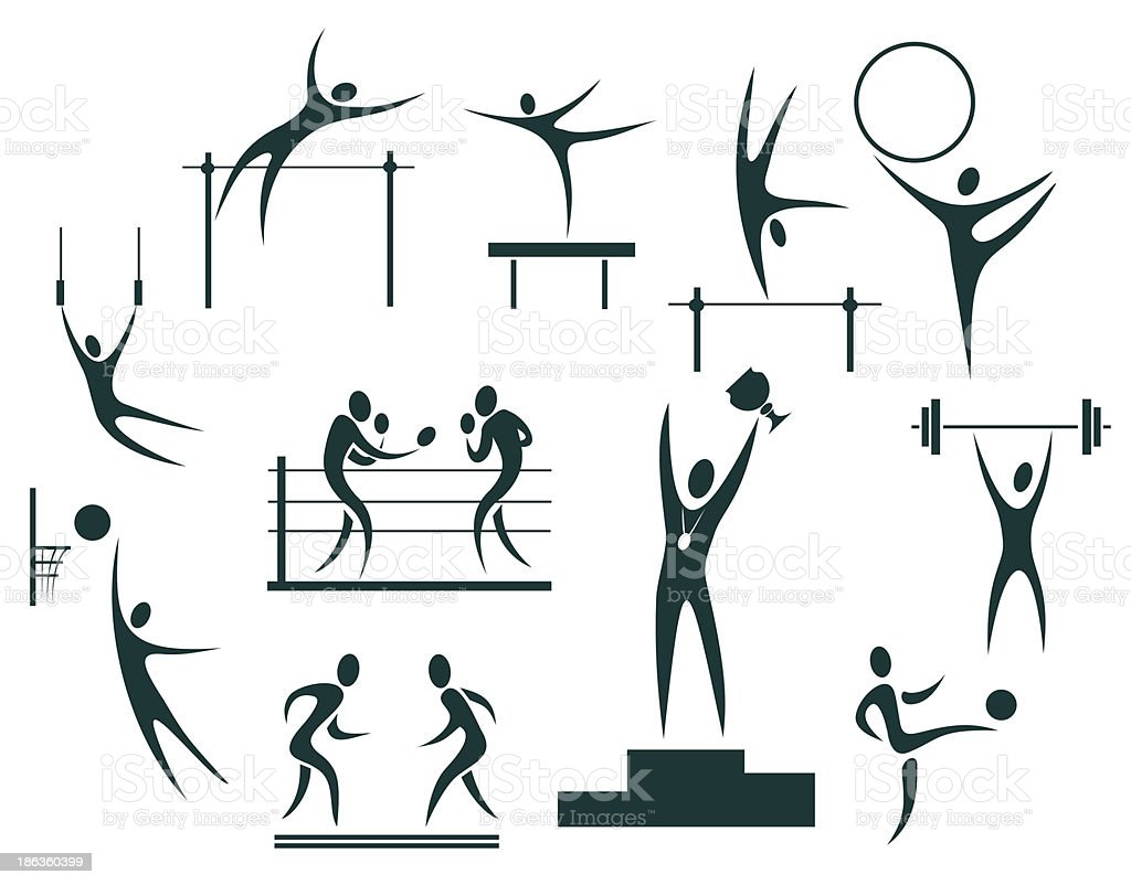 sport symbols set royalty-free stock vector art