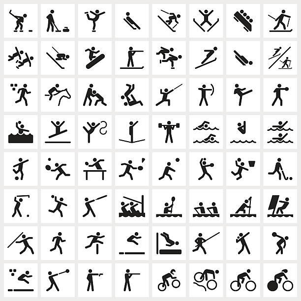 Sport Symbols vector art illustration