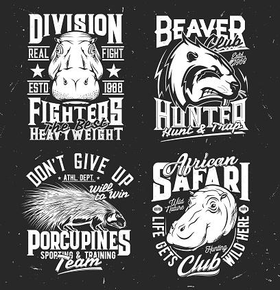 Sport team and hunting club mascot t-shirt print