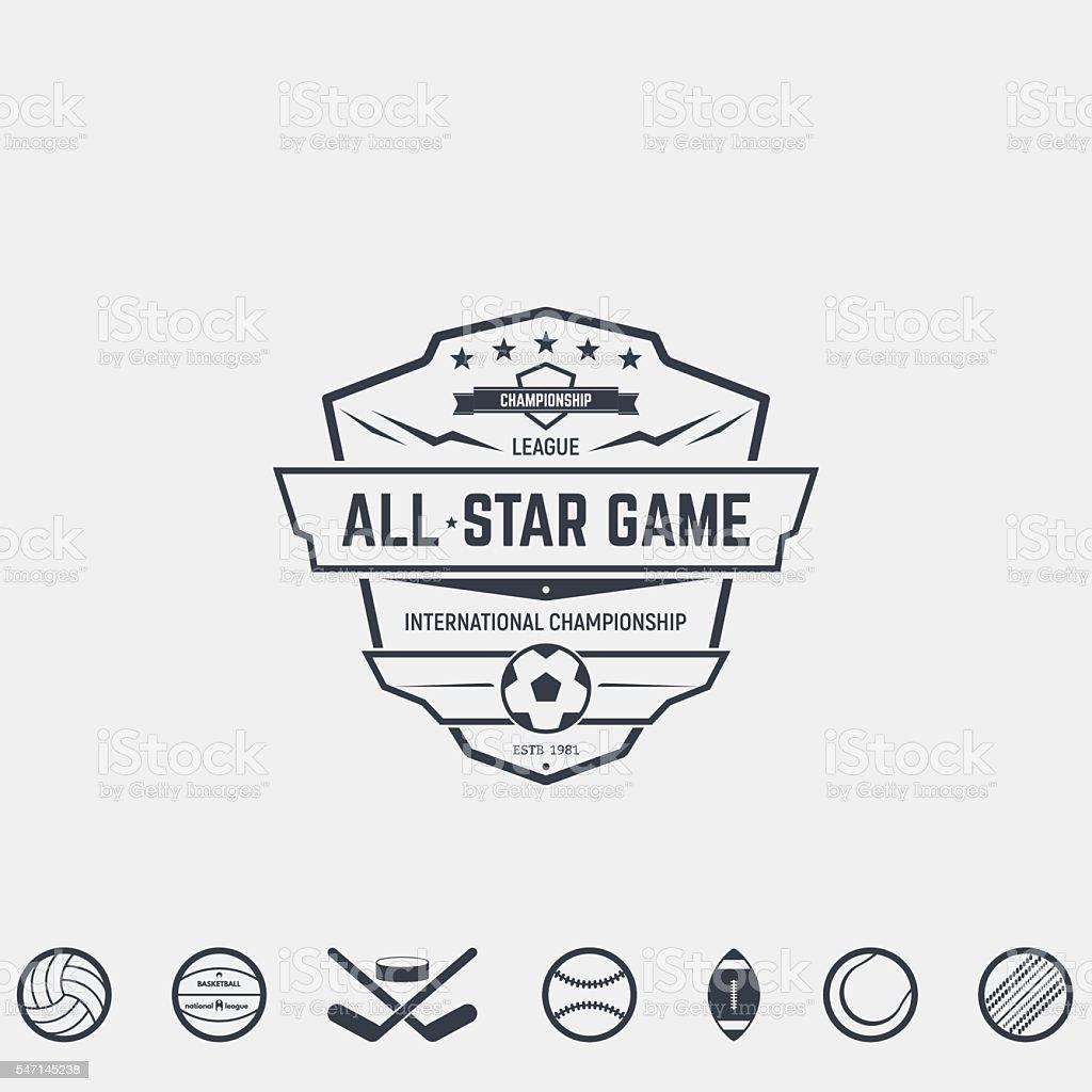 Sport team emblems vector art illustration