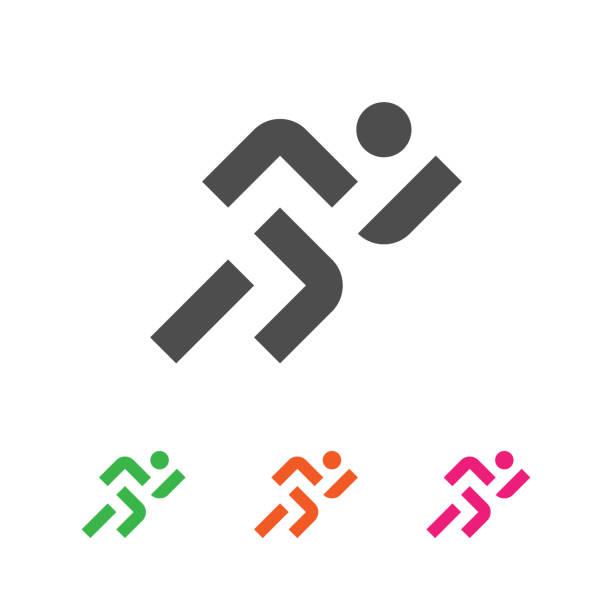 sport template. running sportsman logotype. runner emblem. - running stock illustrations