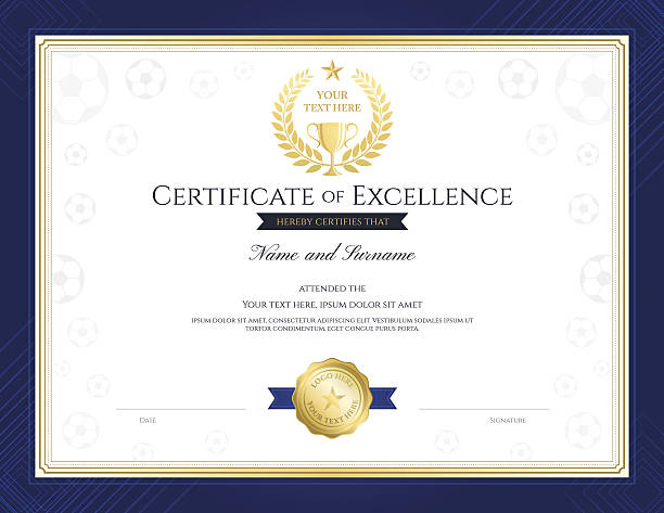 Sports Award Certificate Template Clip Art Vector Images – Sports Award Certificates