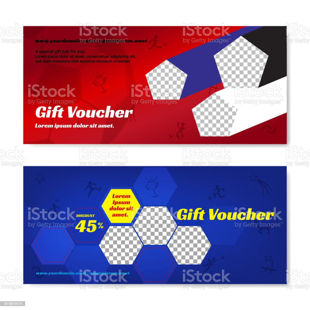 Sport Theme Gift Certificate Voucher Gift Card Or Cash Coupon