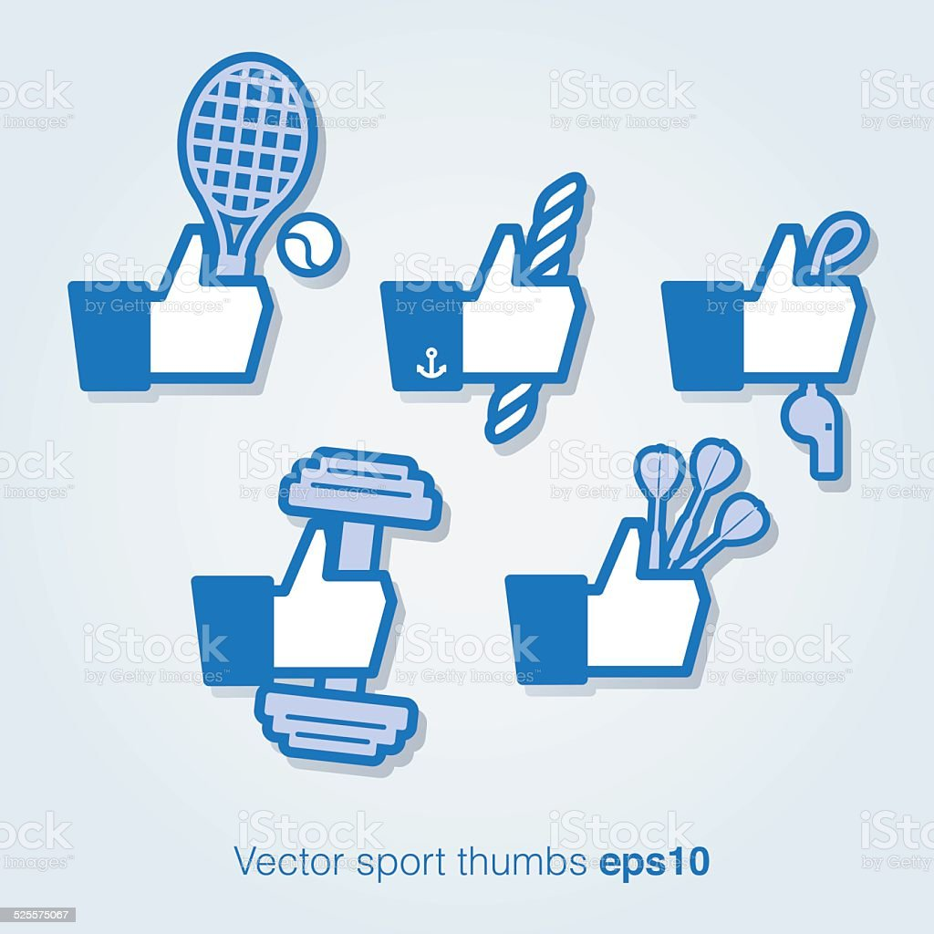 Sport thumbs vector art illustration