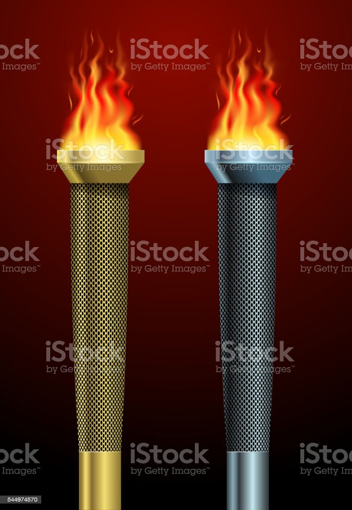 sport torch symbol vector art illustration