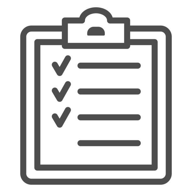 stockillustraties, clipart, cartoons en iconen met het lijnpictogram van het de opleidingsprogramma van de sport, het concept van de gymnastiek, geschiktheidsplanteken op witte achtergrond, het voltooien van de pictogram van de trainingstoewijzing in overzichtsstijl voor mobiel concept en webontwerp. vecto - personal trainer