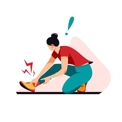 Sport trauma vector illustration.