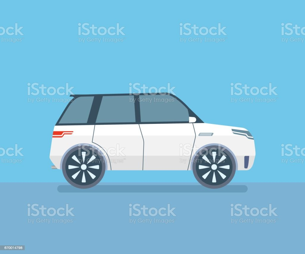 Sport Utility Vehicle SUV vector art illustration