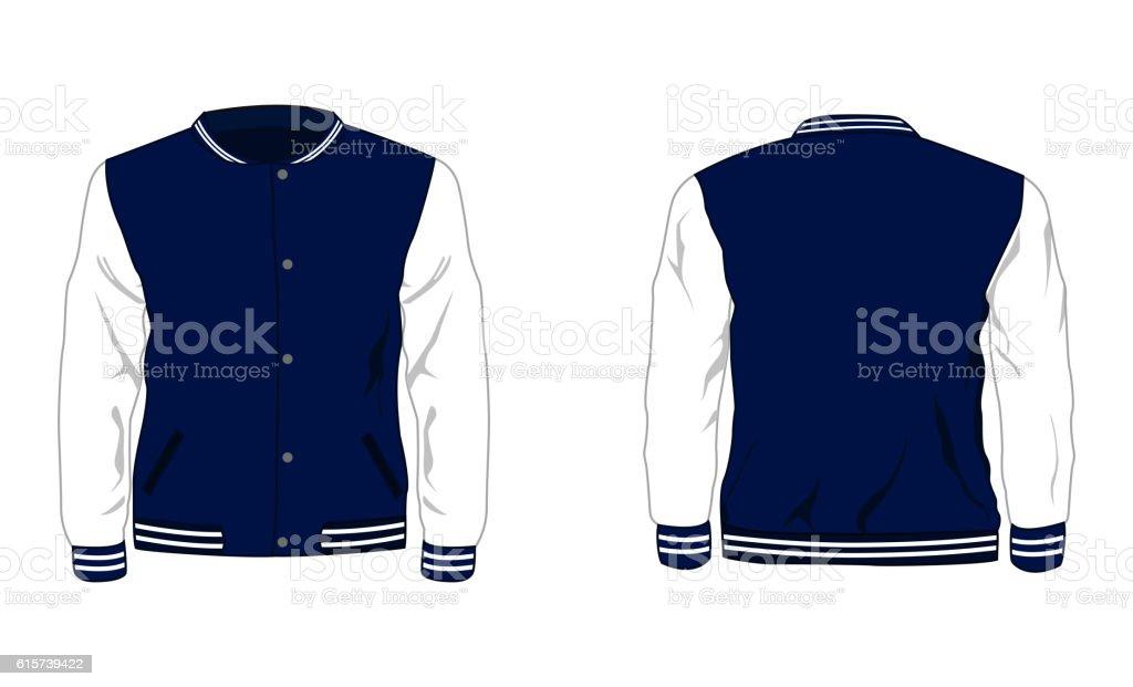 Sport varsity jacket vector art illustration