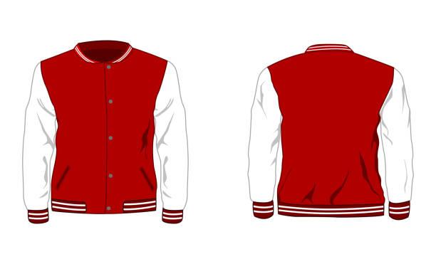 Sport varsity jacket Vector illustration of Sport varsity jacket hot pockets stock illustrations