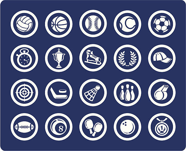 Sport vector icons vector art illustration
