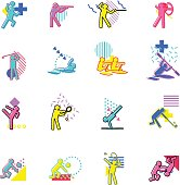 The vector files of sport icon set.