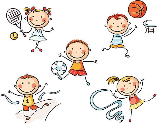 ilustraciones, imágenes clip art, dibujos animados e iconos de stock de de deporte - gimnasia