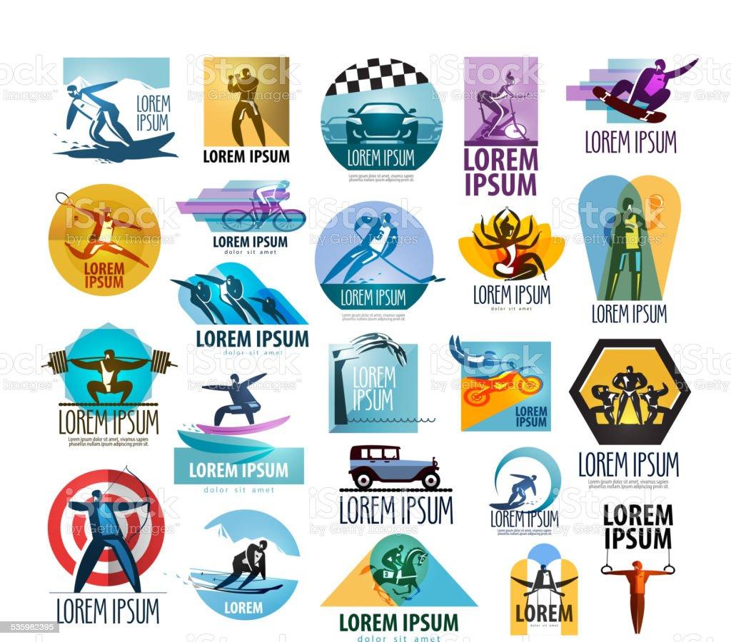 sport vector logo design template. fitness or gym icon vector art illustration