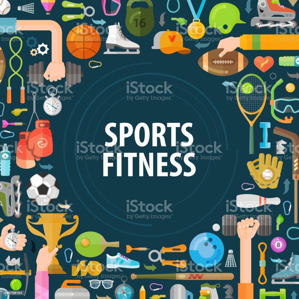 sport vector logo design template. fitness or gymnastics icons vector art illustration