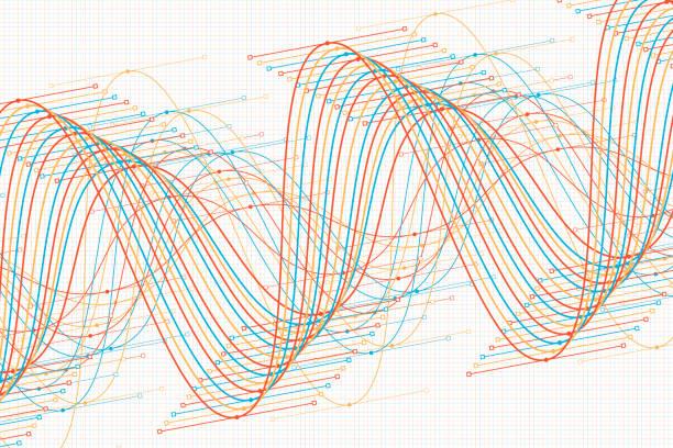 sport vector sine wave graph pattern horizontal - sine wave stock illustrations