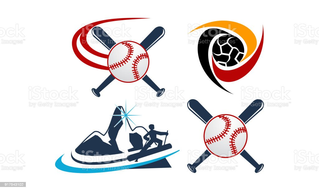 Sport Vektor Vorlage Set Stock Vektor Art und mehr Bilder von ...