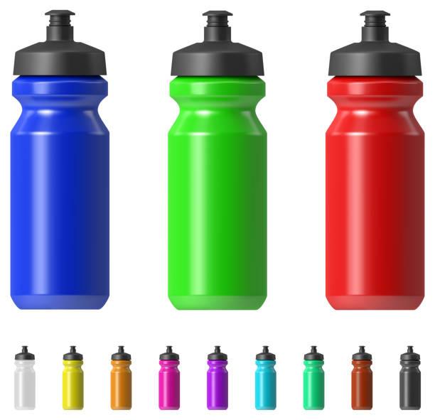 illustrations, cliparts, dessins animés et icônes de bouteille d'eau de sport - bouteille d'eau