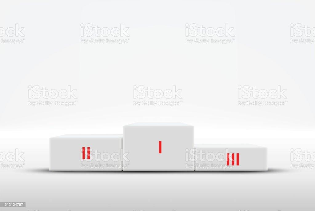 Sport winners podium vector art illustration