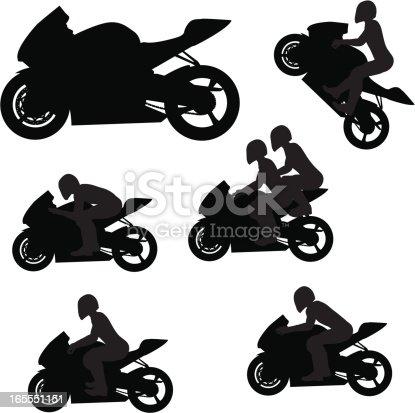 Sportbike silhouettes.