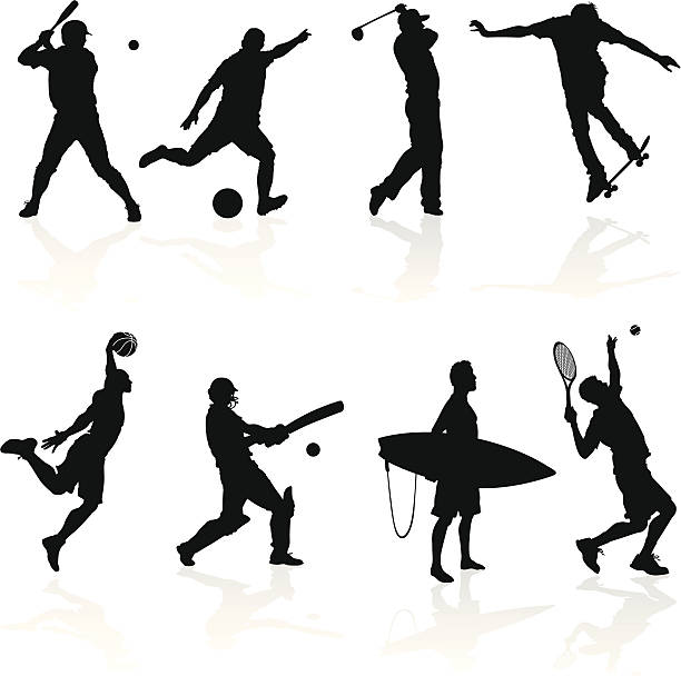 Sporting Silhouettes vector art illustration