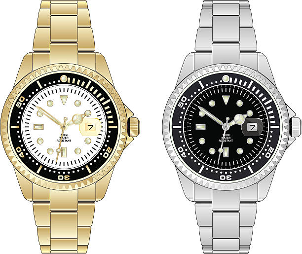 Best Luxury Watch Illustrations, Royalty-Free Vector