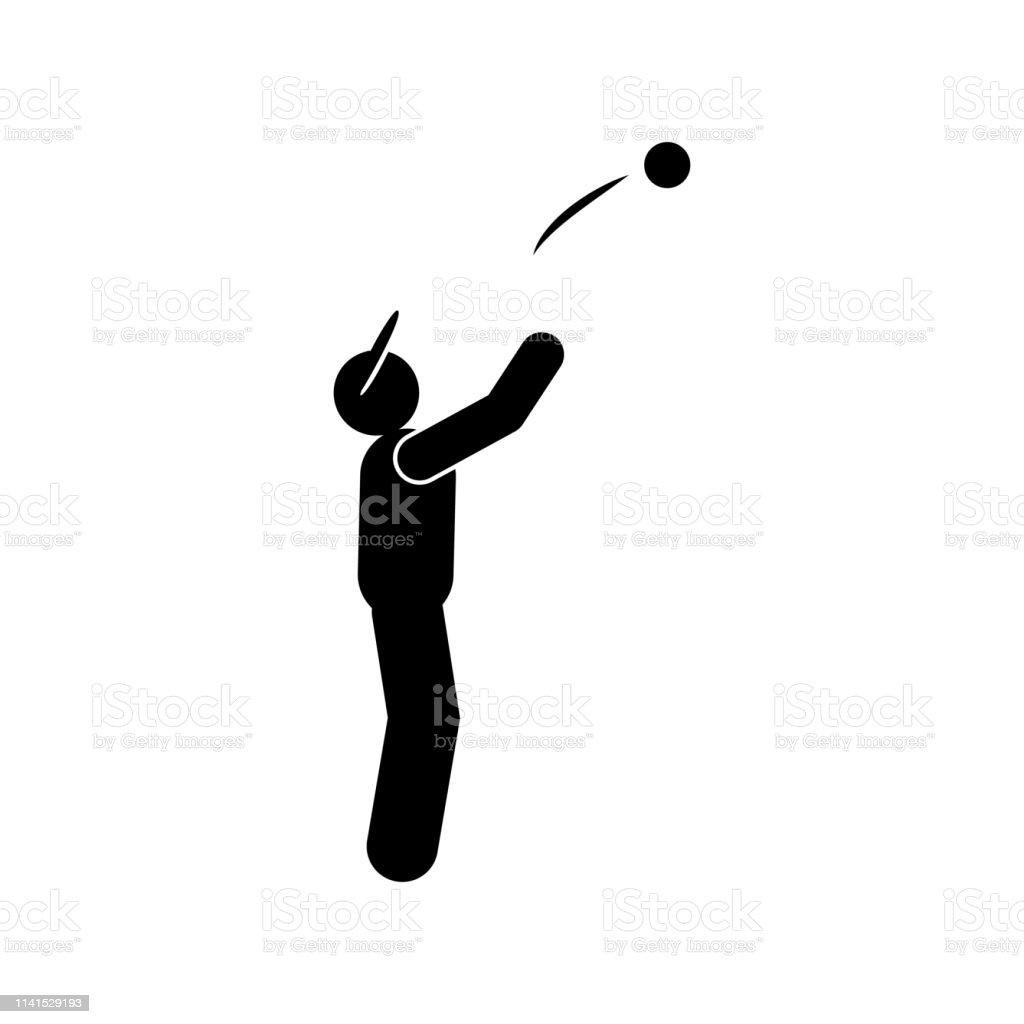 sportive man ball glyph icon. Element of baseball sport illustration...