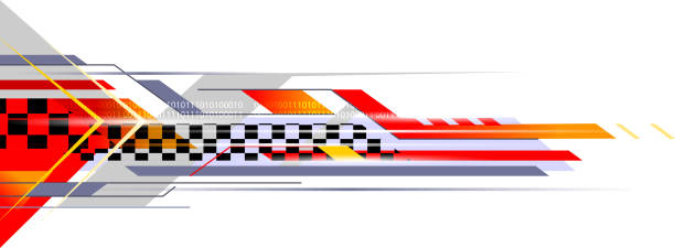 sports abstract - race stock illustrations