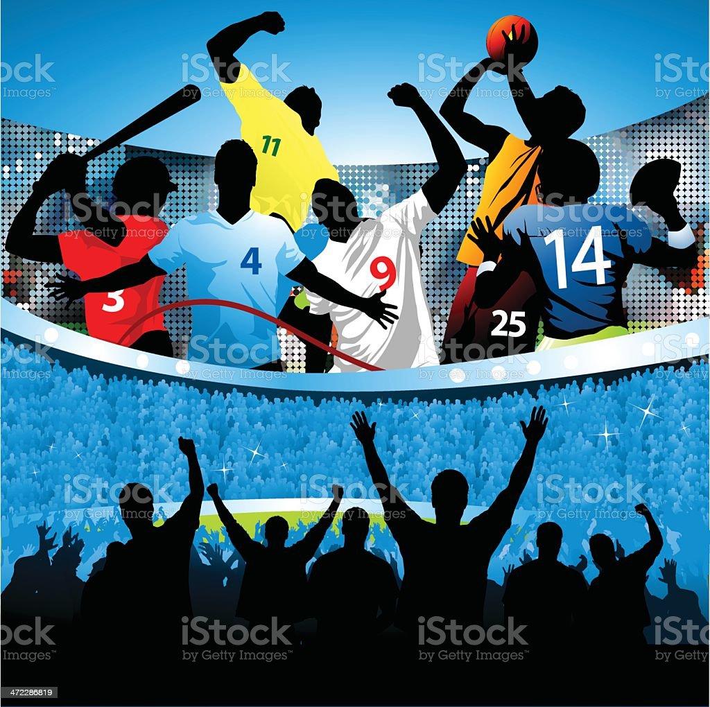 Sports all stars royalty-free stock vector art