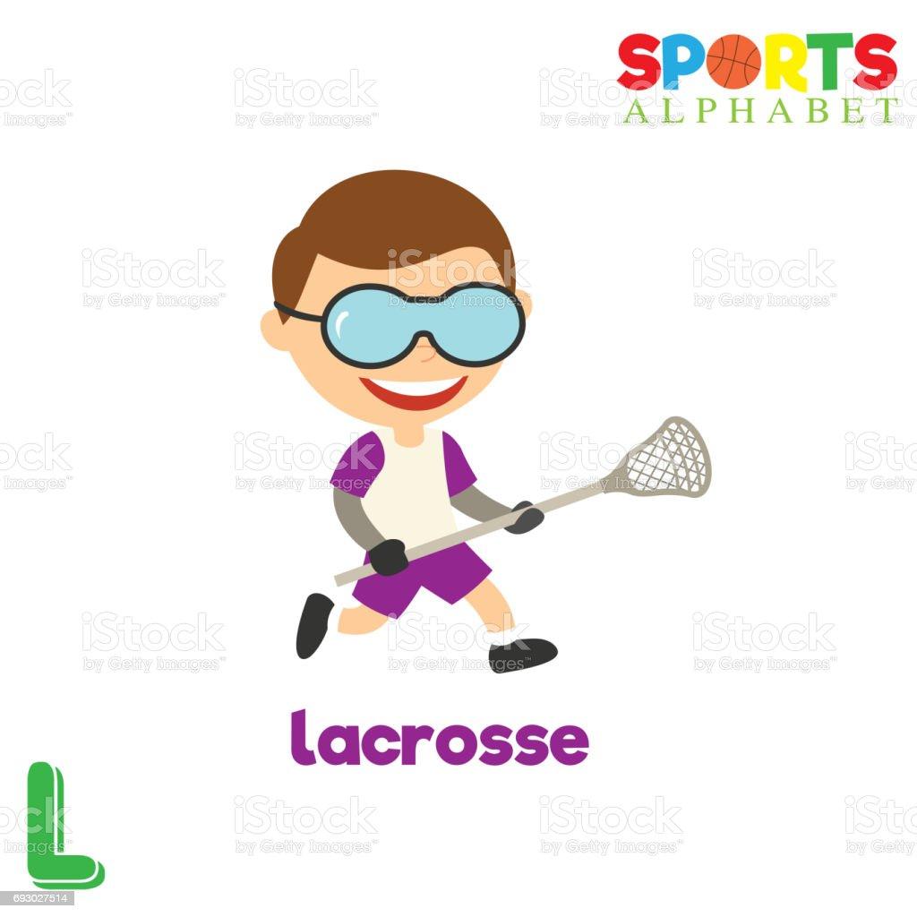 b942f522a Alfabeto de esportes com a letra L vetor de alfabeto de esportes com a letra  l e