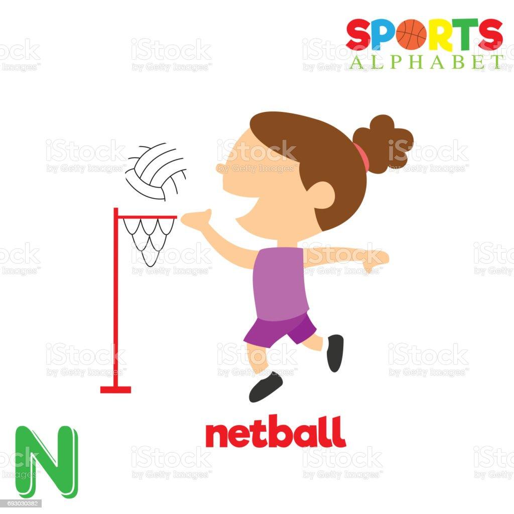 462b0f82a Alfabeto de esportes com a letra N vetor de alfabeto de esportes com a letra  n e