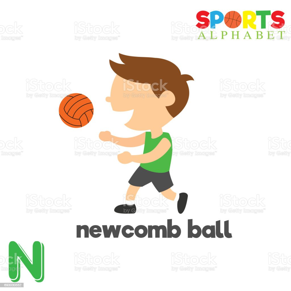 Sports Alphabet With N Letter Stock Vector Art  More Images Of