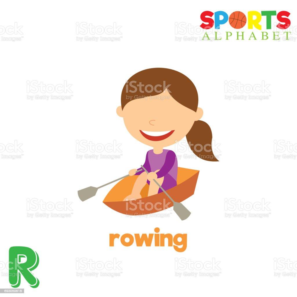 8635948c7 Alfabeto de esportes com a letra R ilustração de alfabeto de esportes com a letra  r e