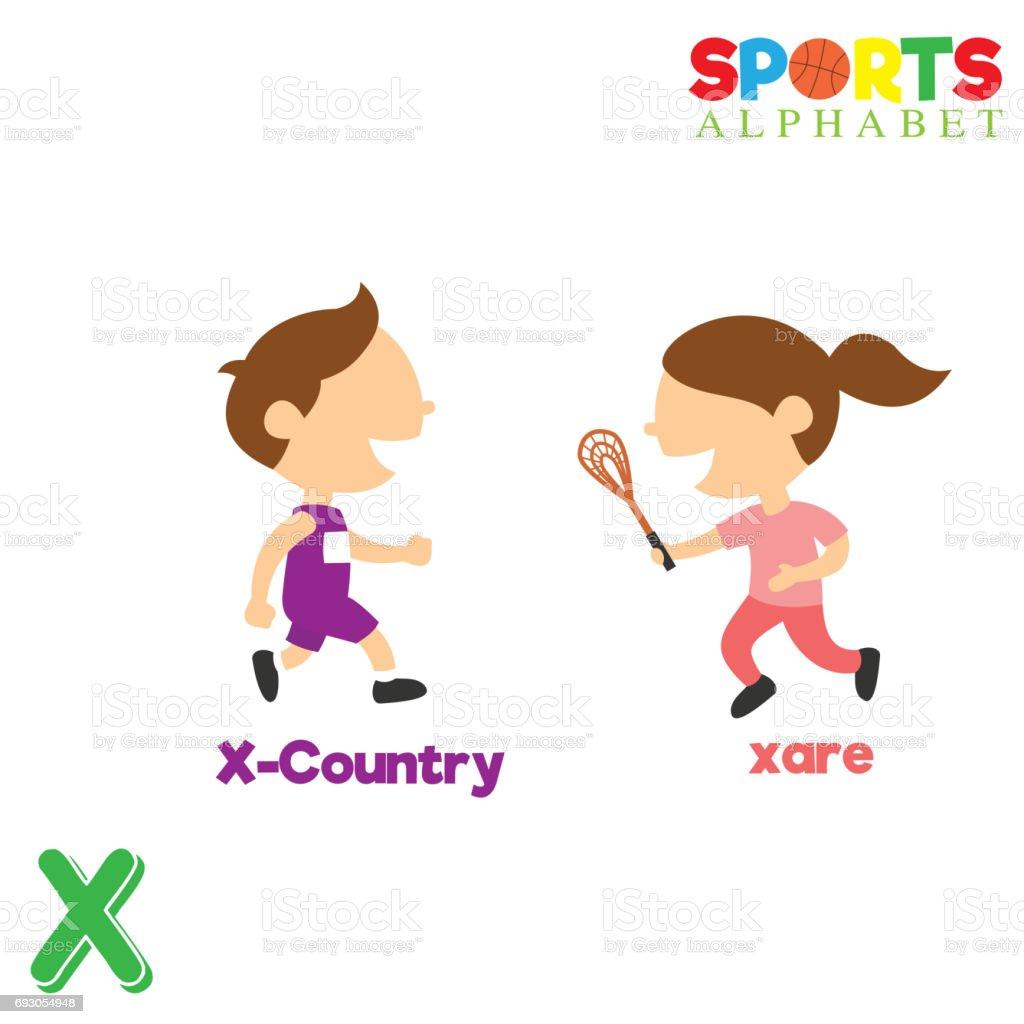 Ilustración De Alfabeto De Deportes Con X Letra Y Más Vectores