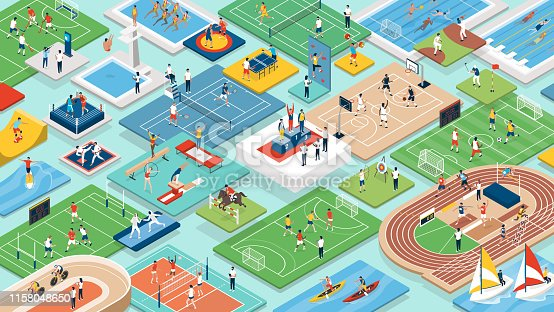 istock Sports and athletes international competition 1158048650