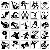 Sports and Athletics Icons Set