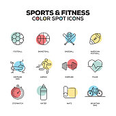 Sports and Fitness icons. Vector line icons set. Premium quality. Modern outline symbols and pictograms.