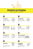 Sports and Fitness Infographic Design Template
