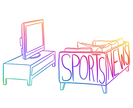 Sports And News Tomato Couch Rainbow