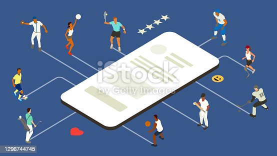 istock Sports app illustration 1296744745