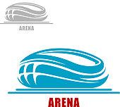 Sports arena or stadium icon
