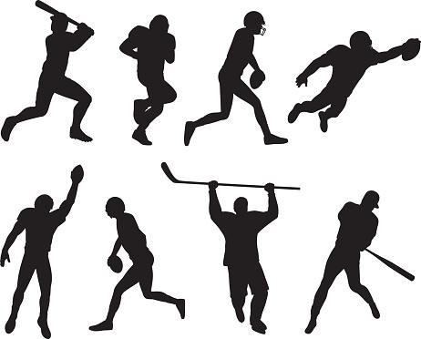 Sports Athletes Silhouettes