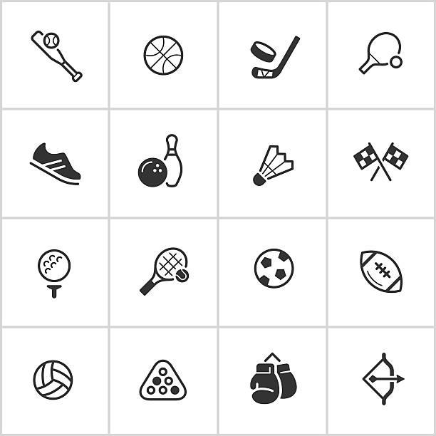 Sports & Athletics Icons — Inky Series vector art illustration