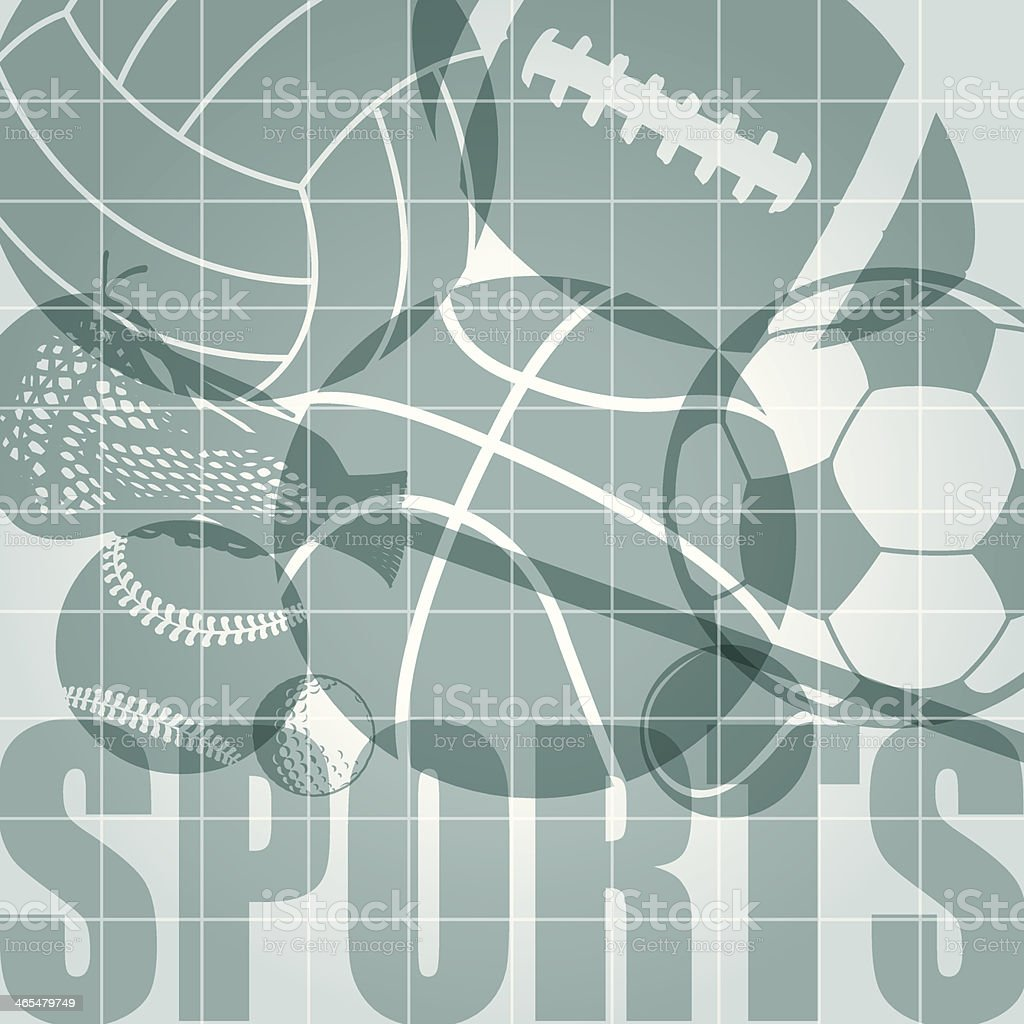 Sports Background Graphic - Team, Individual vector art illustration