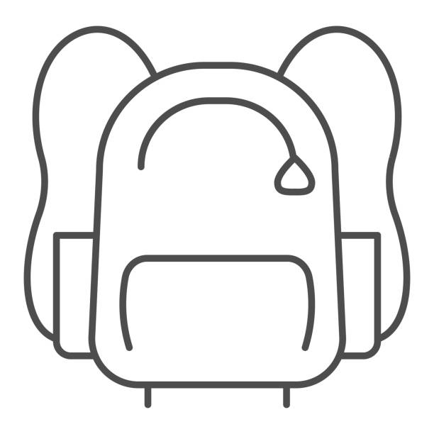 Sports backpack line and solid icon. Sportsman daypack bag with handles symbol, outline style pictogram on white background. Healthy lifestyle sign for mobile concept and web design. Vector graphics. Sports backpack line and solid icon. Sportsman daypack bag with handles symbol, outline style pictogram on white background. Healthy lifestyle sign for mobile concept and web design. Vector graphics adventure clipart stock illustrations