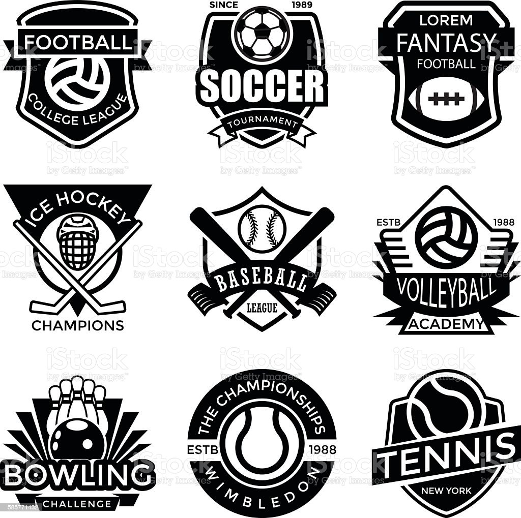 Sports Badges vector art illustration